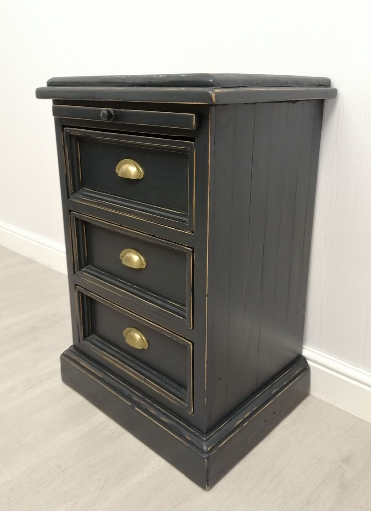 Solid Pine Three Drawer Bedside Chest