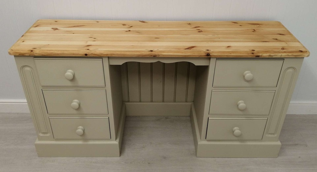 Six Drawer 'Old White' Pine Desk