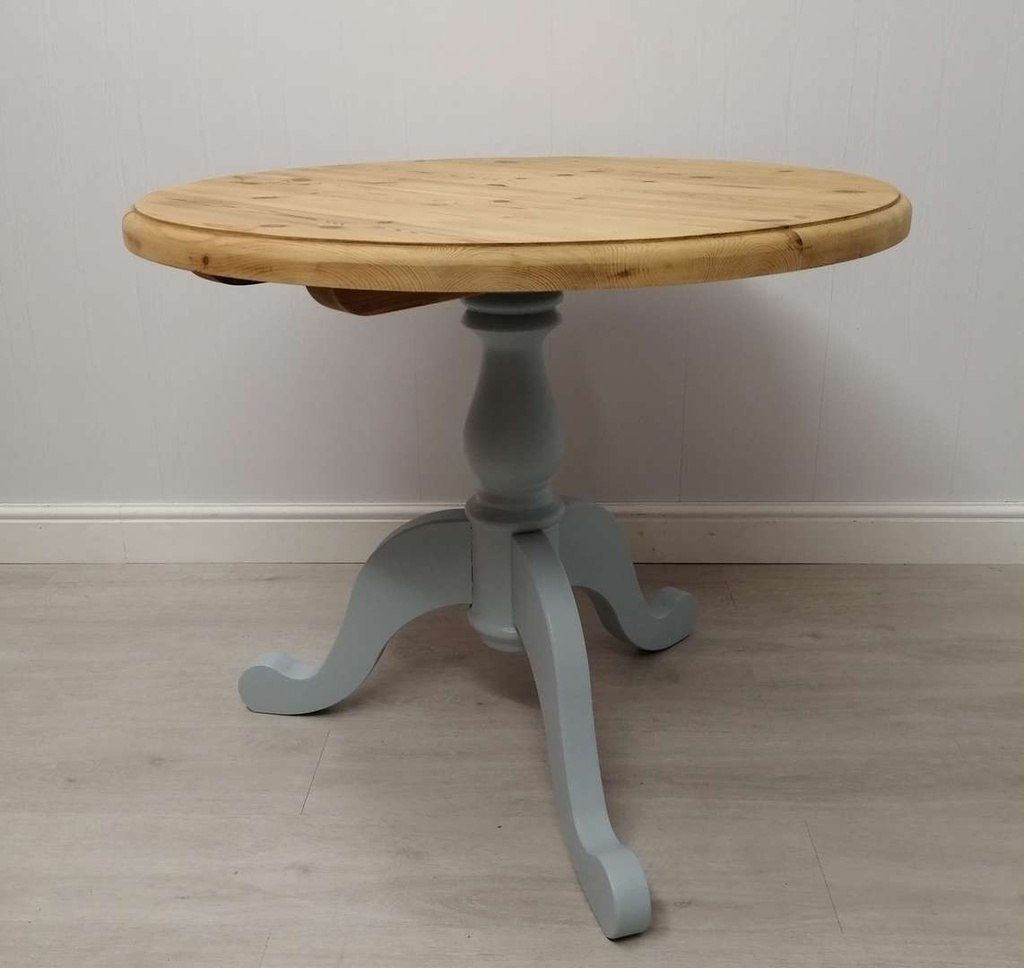 3ft Round Pine 'Parma Grey' Dining Table