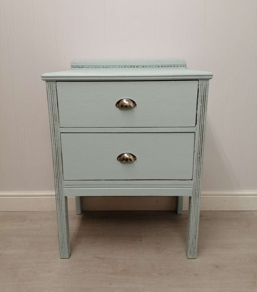 'Duck Egg' Chest of Two Drawers