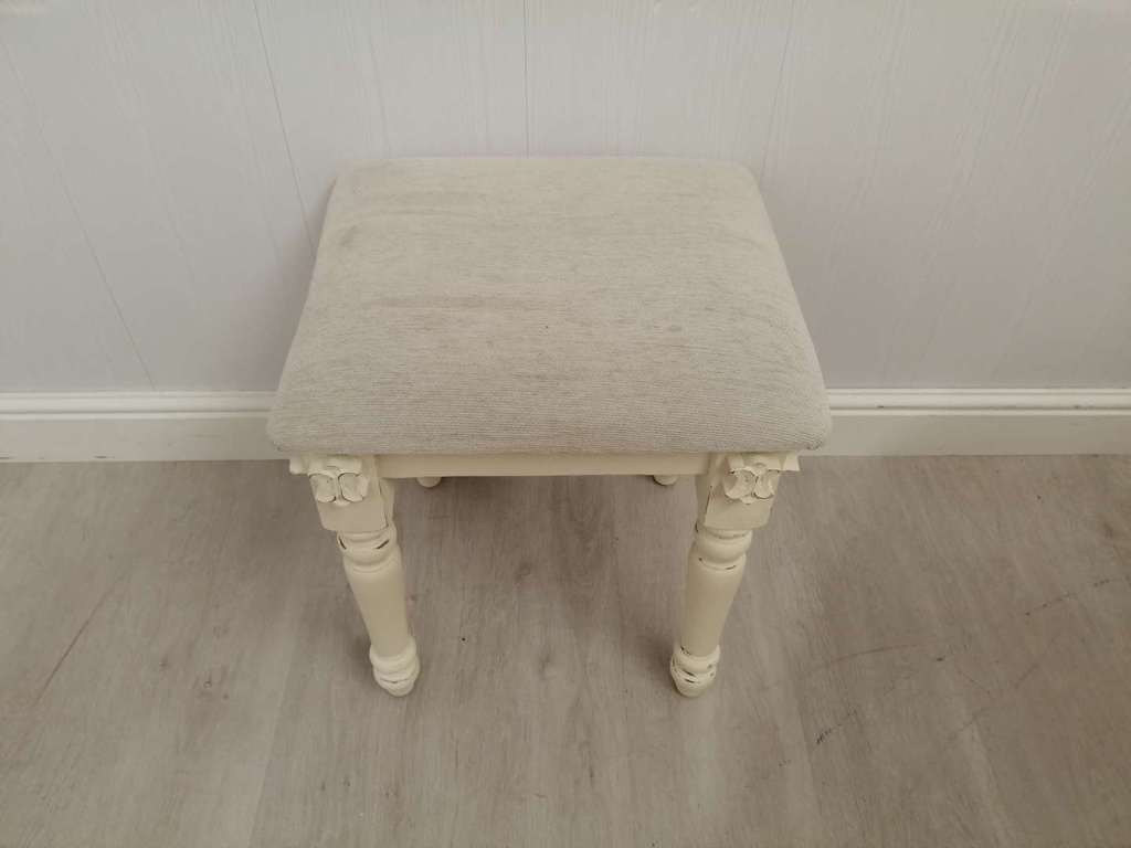'Clotted Cream'  Dressing Table with Mirror & Stool
