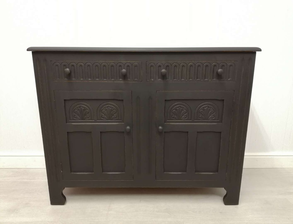 'Natural Charcoal' Detailed Sideboard
