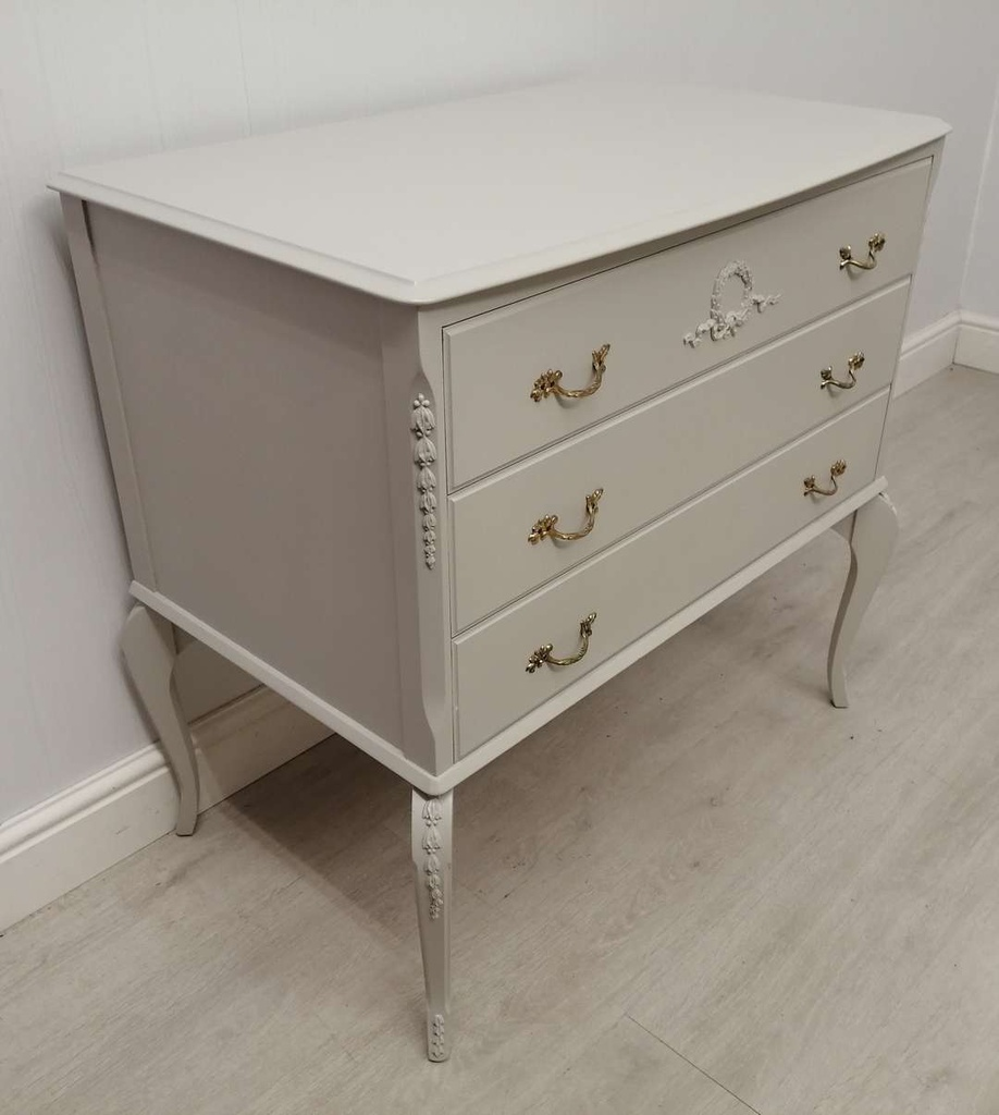 'Pavilion Grey' Marie Antoinette Style Chest of Three Drawers
