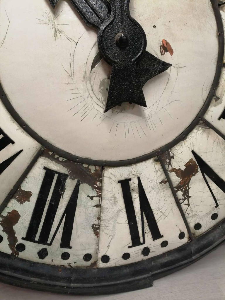 Old Original Enamel Town Hall Clock