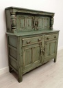 Green Distressed Vintage Ercol Court Cupboard