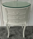 Shadow White' French Style Bedside