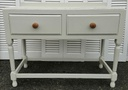 Shaded White' Distressed Retro Console Table