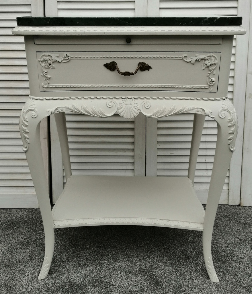 Marble Top French Style Bedside Pair