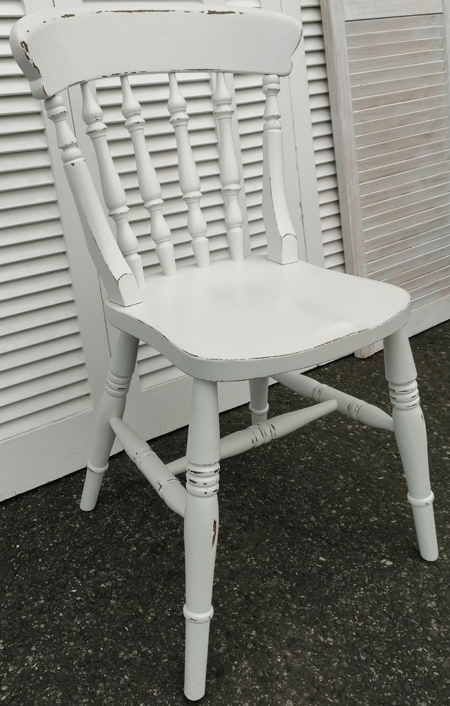 White Distressed Chair
