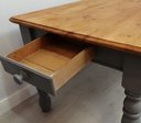 6ft Pine 'Anthracite' Dining Table & Two Bench Set