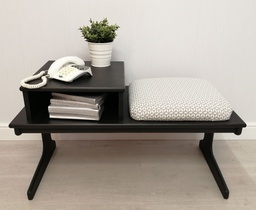 [HF4952] Retro 'Natural Charcoal' Telephone Seat